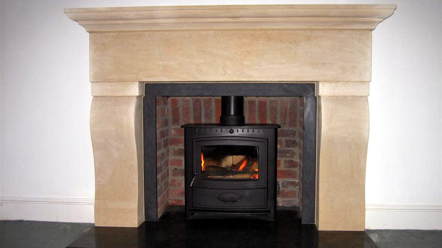 Abbey bath stone fireplace and hearth for Fireplaces bath