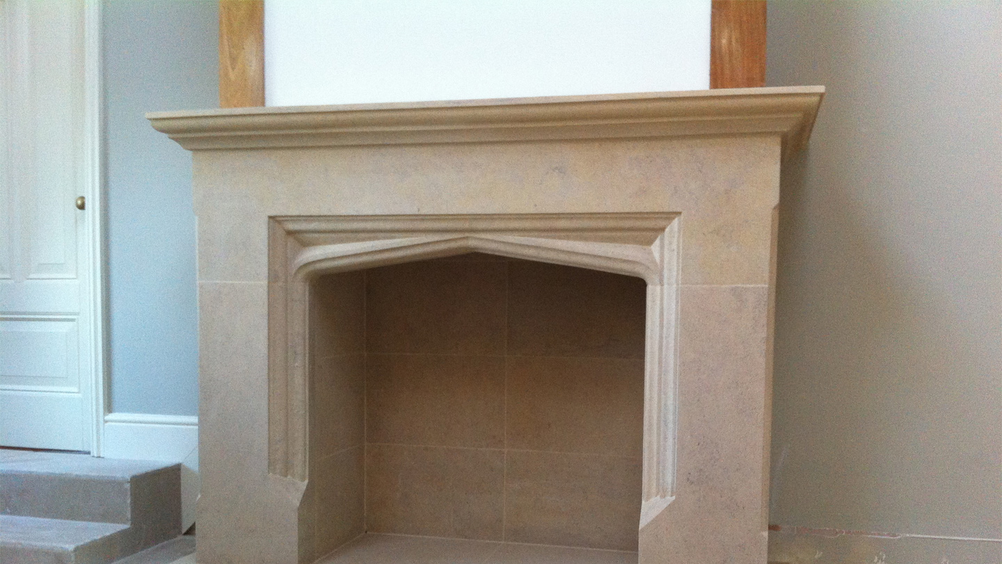 Rochester bath stone fireplace and hearth for Fireplaces bath